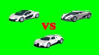 Agera R VS Veyron VS P1 in Roblox | Roblox Vehicle Simulator #14