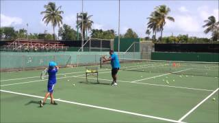 9 years old Slow Motion Forehand - Tennis