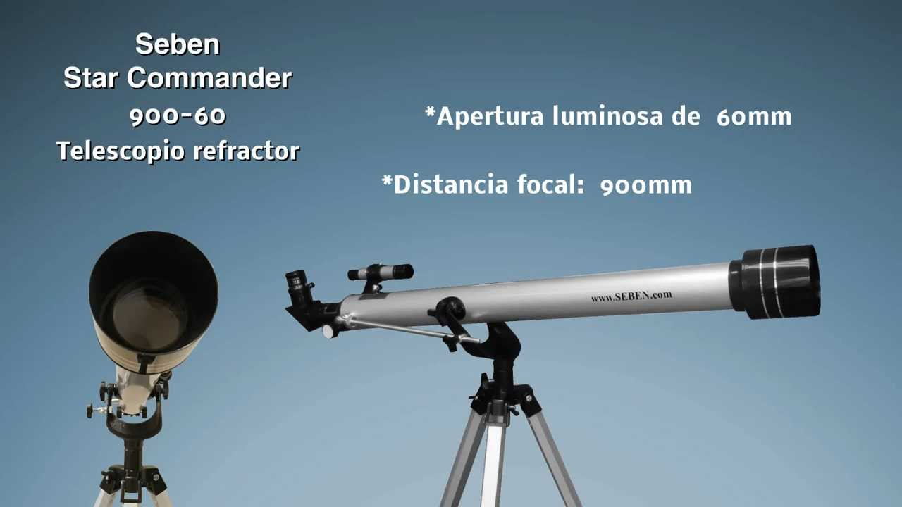 Star commander de seben telescopio refractor youtube