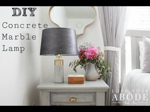 DIY Concrete Marble Lamp
