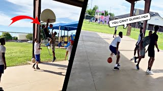 Trash Talkers Gets EXPOSED!! 4v4 Basketball in the HOOD!!
