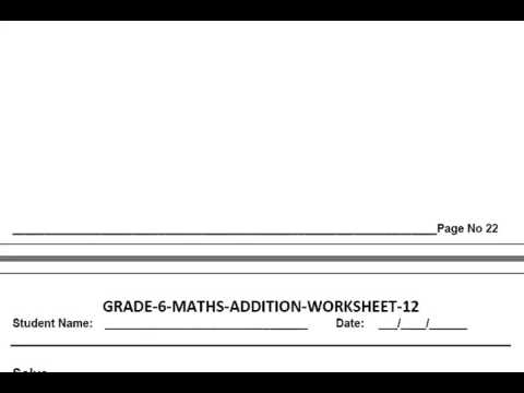grade  maths addition worksheets  youtube grade  maths addition worksheets