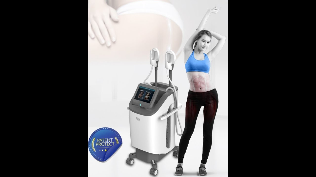 Operation video for BY460 HI-EMT Slimming Machine - YouTube
