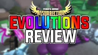 Miners Haven: ALL EVOLUTION REVIEWS (All evolved items) (Not that great?)