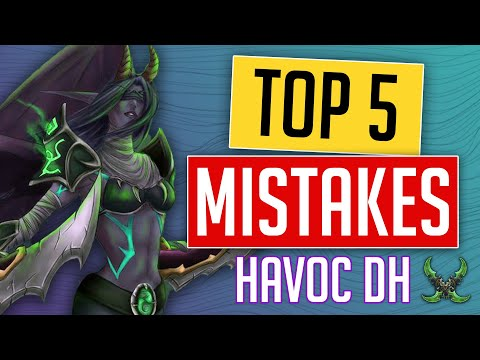 HAVOC DH | Top 5 MISTAKES You're Making That Are KILLING your DPS! Havoc Demon Hunter Shadowlands