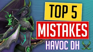HAVOC DH  Top 5 MISTAKES Youre Making That Are KILLING your DPS Havoc Demon Hunter Shadowlands