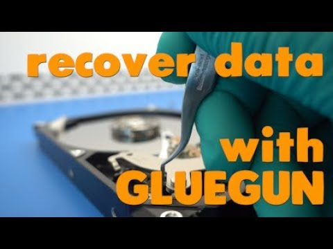 scratched hard drive data recovery | platter damage and gluegun