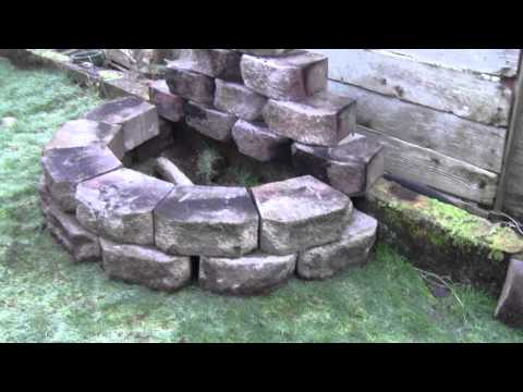 How to build a useful fire pit in a small yard youtube for How to make a small fire