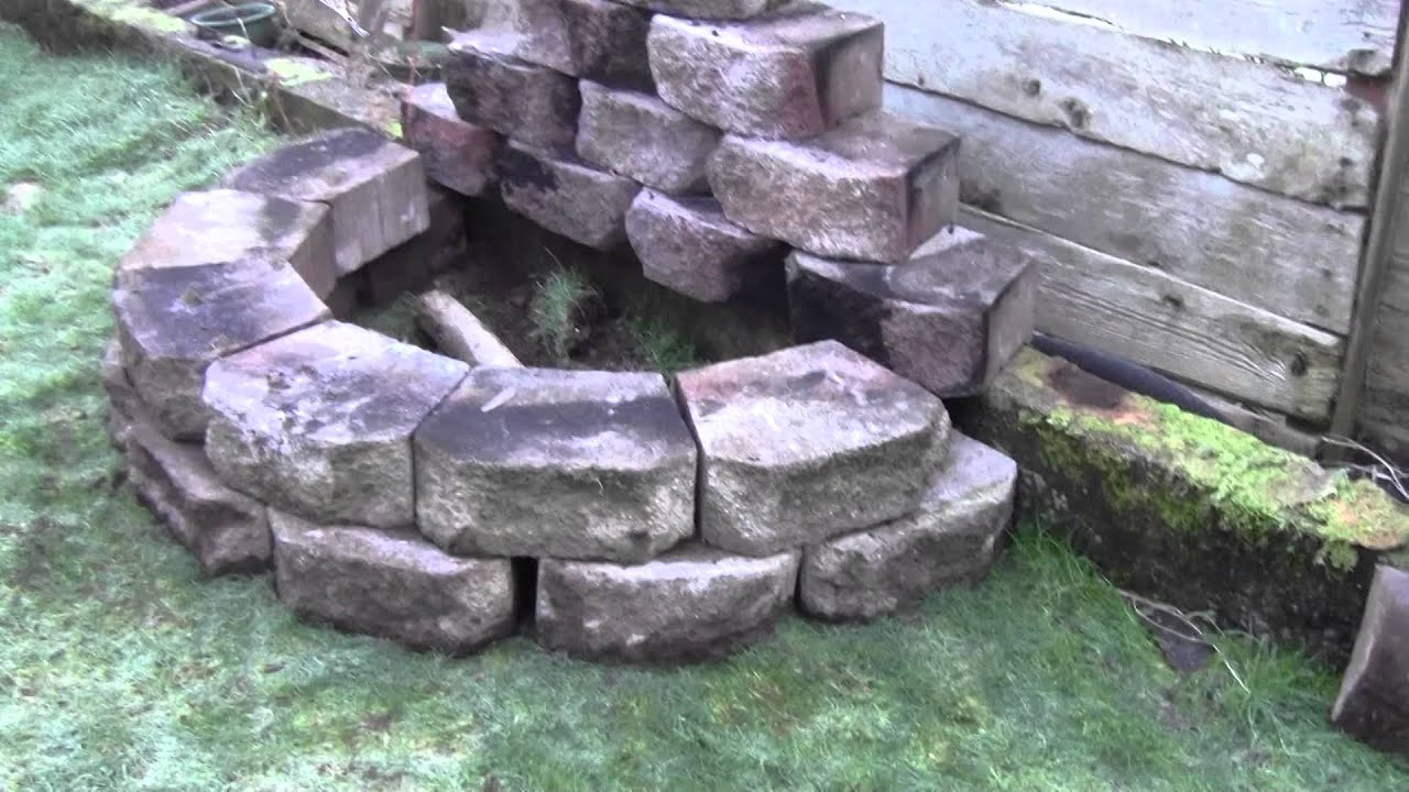 how to build a useful fire pit in a small yard youtube