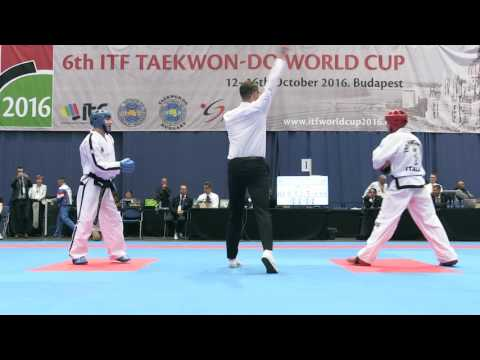 Sparring Senior Male  -63kg Final - ITF World Cup 2016 - Budapest
