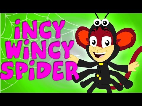 Free Download Itsy Bitsy Spider | Monkey Rhymes For Children | Kids Cartoon Videos Mp3 dan Mp4