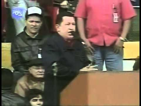5 Nov 2005 Hugo Chávez en Mar del Plata en contracumbre por el No al ALCA