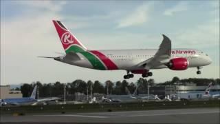 Kenya Airways 787 Missed Approach and Landing  KPAE