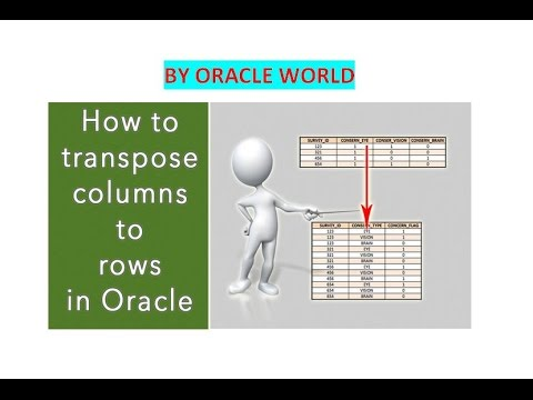 How to transpose column to row in sql