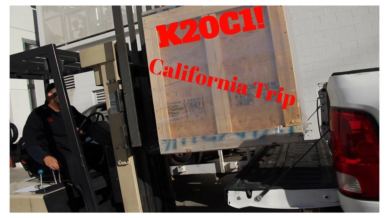 Picking Up a K20C1 Crate Engine! (California Vlog)
