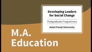 M.A. Education