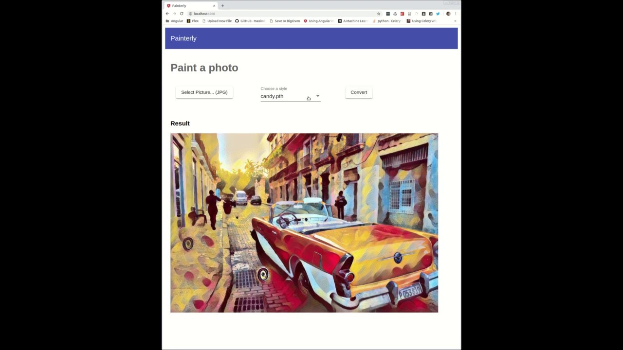 Applying Artist Styles to Photographs with Neural Style Transfer