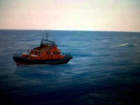 Lifeboats Float in the air during high wave - 2m