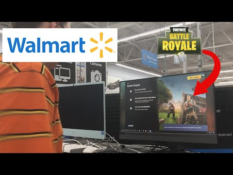 PLAYING FORTNITE IN *WALMART*