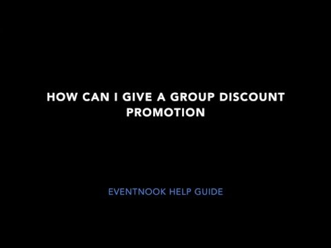 How can I give a group discount promotion