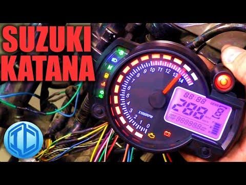 Универсальная приборная панель на мотоцикл Suzuki GSX750F Katana