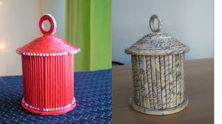 Newspaper Jar |Newspaper craft ideas | best out of waste | parul pawar