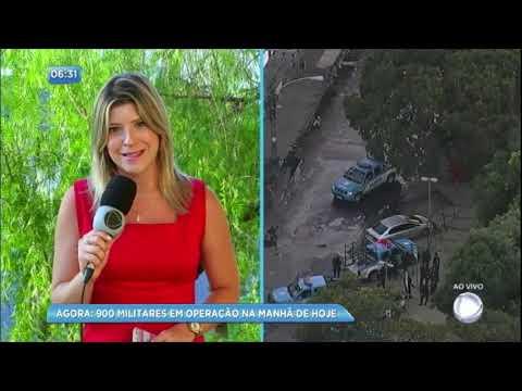 Operação mobiliza 900 militares no Rio de Janeiro nesta quarta-feira (7)