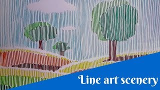 line lines scenery simple draw