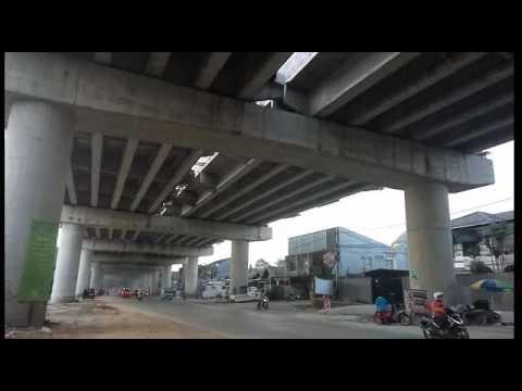 Penampakan proyek Tol Desari di Jalan Andara, Cinere Depok