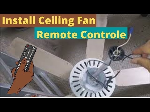 How To Install A Universal Ceiling Fan Remote Control On