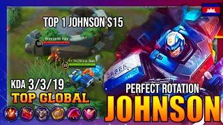 FULL OPEN MAP TOP 1 JOHNSON GAMEPLAY - TOP GLOBAL JOHNSON Tx | N ʜ a  Sad.? - MOBILE LEGENDS