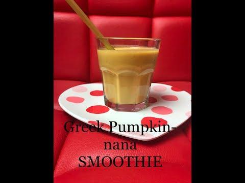 Greek pumpkin-nana smoothie (everyday Holiday Treat)