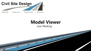 Civil Site Design - Model Viewer Line Marking