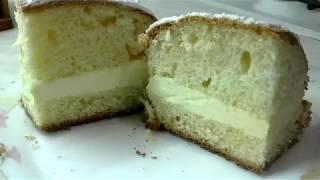 """Дрожжевой пирог """"Лакомка"""" с заварным кремом."""
