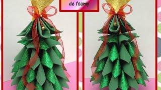 ♥♥Árbol Navideño de foamy o goma eva 3D♥♥- CREACIONES mágicas♥♥