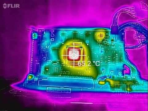 GPU Heatsink Removed! - Nvidia GTS 450 powered on with no heatsink - Thermal Camera