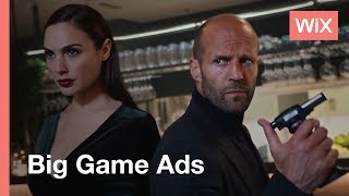 Wix Big Game Campaign | Build Your Own Website thumbnail