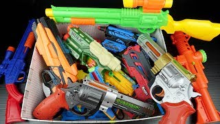 Colored Guns Toys Video for Kids !! Box of Toys With Many Colorful Toys