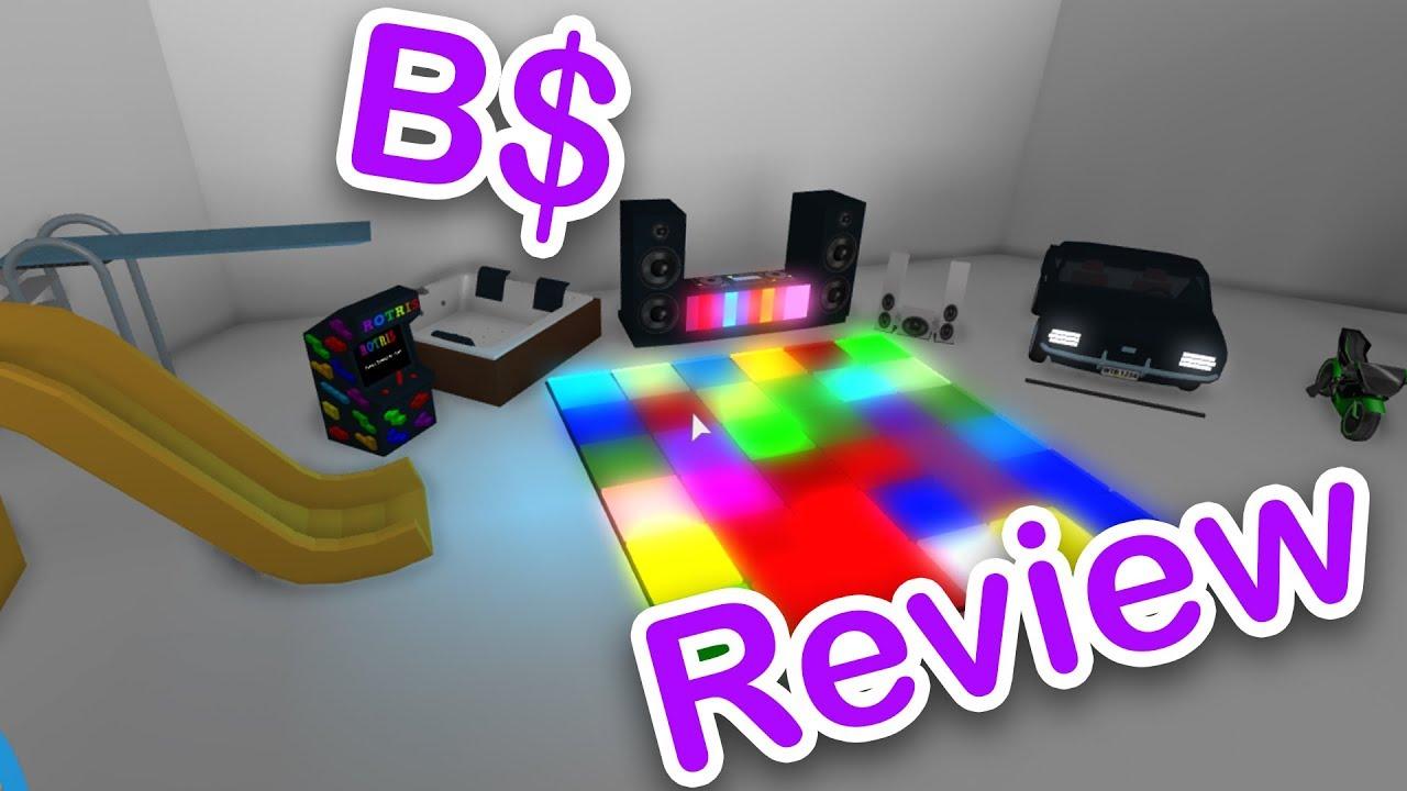 Reviewing All Blockbux B Items Roblox Bloxburg Youtube