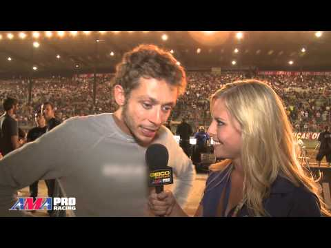 Valentino Rossi talks with Cristy Lee of AMA Pro Video