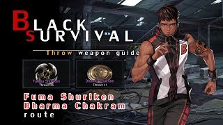 "[Black Survival - Guide] ""Fuma Shuriken & Dharma Chakram"" route"
