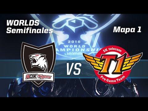 ROX TIGERS VS SKT TELECOM T1 - #WorldsSemis - World Championship 2016 - Mapa 1 - Semis