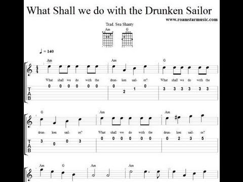 What Shall We Do With The Drunken Sailor Youtube