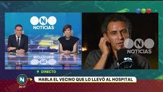 Crimen del colectivero: habló el vecino que intentó salvarlo - Telefe Noticias