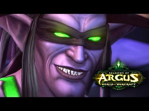 WoW Legion 🌟 Arrival on Argus Cinematic - Illidan is Being a Dick - Patch 7.3