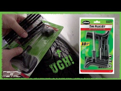 Using Slime's Flat Tire Plug Kit | DIY & Quick Review