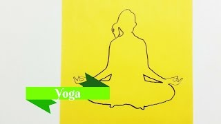 Drawing Yoga | People - Kirigami