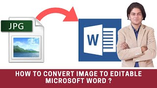 how to convert image to editable word