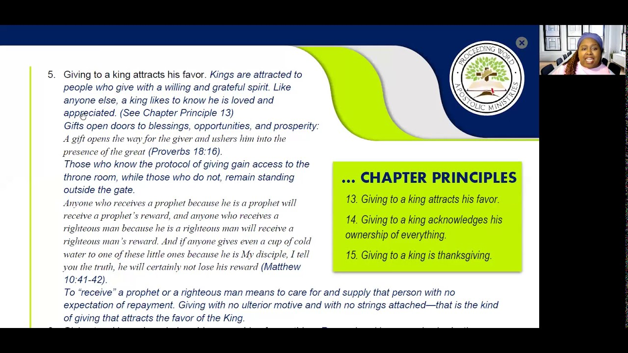 2021_0218 PWAM Bible Study: Kingdom Principles - Chapter 12 - GIVING TO THE KING - PART 2
