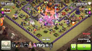 Clash of clans/The best witches attack!!!GREEK FAM